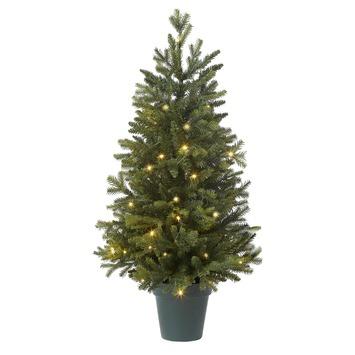 Kunstkerstboom met verlichting
